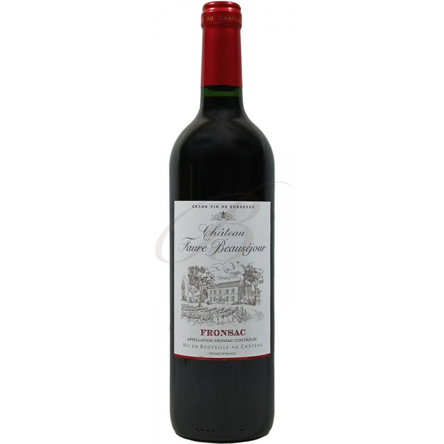 Chateau faur beaus jour fronsac 2011 boursot - Conservation vin rouge ...