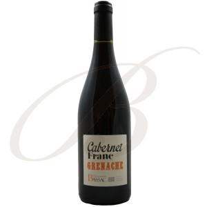 Grenache/Cabernet Franc, BIOLOGIQUE, Domaine Bassac, Vin de Pays des Côtes de Thongue (Languedoc), 2016 - Vin Rouge