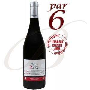 Cabernet Sauvignon, Bio, Domaine Bassac, Côtes de Thongue (Languedoc), 2015 par 6 Bouteilles - Vin Rouge