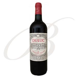 Duluc de Branaire-Ducru, 2ème vin de Château Branaire-Ducru, 4ème cru Saint-Julien (Bordeaux), 2015 - Vin Rouge