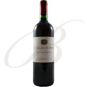 Closerie de Fourtet, 2ème vin de Clos Fourtet, Grand Cru Classé Saint-Emilion (Bordeaux), 2010 - vin rouge