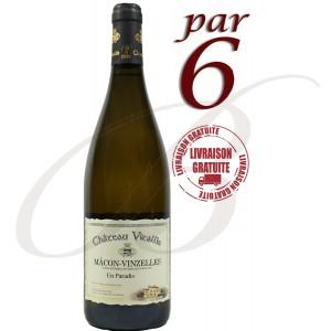 """Mâcon-Vinzelles, """"En Paradis"""" Château Vitallis (Bourgogne), 2015 - vin blanc par 6 bouteilles"""
