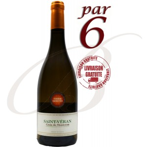 Saint-Véran, Croix de Montceau (Bourgogne), 2015 - vin blanc par 6 bouteilles