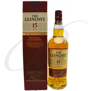 The Glenlivet, French Oak Reserve, 15 ans, Single Malt Scotch Whisky, 40%