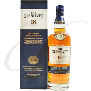 The Glenlivet Scotch Whisky, Single Malt, 18 ans d'Age, 43% vol.