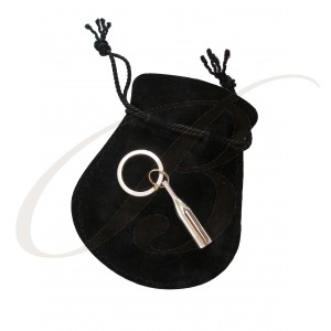 Keyring - Silver Plated Bottle