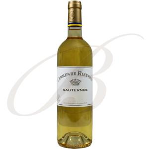 Carmes de Rieussec, 2ème vin de Château Rieussec, 1er Cru Classé Sauternes (Bordeaux), 2017, Demi-bouteilles:  37.5cl. - Vin Liquoreux