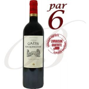 Château Gazin Rocquencourt, Péssac-Léognan, Bordeaux, 2012 par 6 bouteilles - Vin Rouge