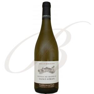 Saint-Véran, Château de Chasselas, Domaine Pardon et Fils (Bourgogne), 2017 - Vin Blanc