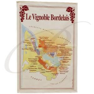 Tea Towel:  Le Vignoble Bordelais