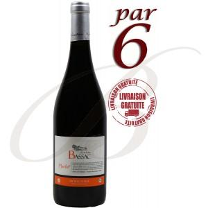 Merlot, BIOLOGIQUE, Domaine Bassac, IGP Côtes de Thongue (Languedoc), 2016, par 6 Bouteilles - Vin Rouge
