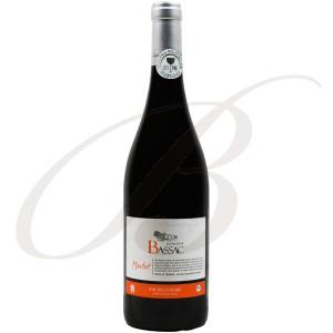 Merlot, BIOLOGIQUE, Domaine Bassac, IGP Côtes de Thongue (Languedoc), 2016 - Vin Rouge