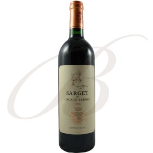Sarget de Gruaud-Larose, 2ème vin de Château Gruaud-Larose, 2ème cru Saint-Julien (Bordeaux), 2006 - vin rouge